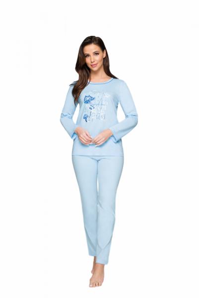 Regina 923 Dámské pyžamo plus size XXL světle šedá melanž
