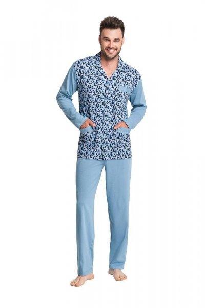 Luna 797 modré Pánské pyžamo L modrá