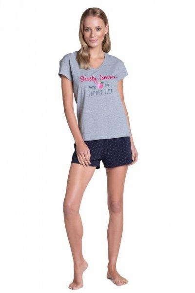 Esotiq-Henderson Tyla 38885 šedé Dámské pyžamo S šedá