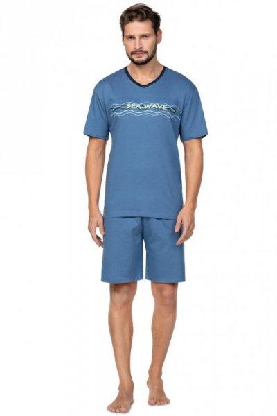 Regina 586 modré Pánské pyžamo L modrá