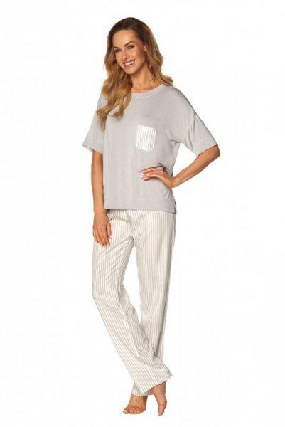 Rossli Victoria SAL-PY-1170 šedé Dámské pyžamo L šedá
