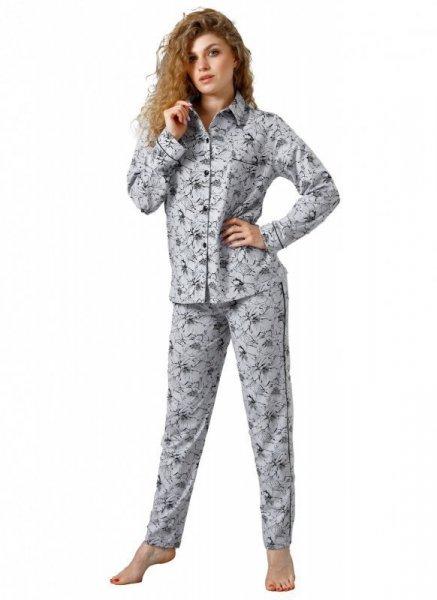 Laveza Marietta 1098 Dámské pyžamo XXL světle šedá