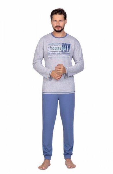 Regina 594 Pánské pyžamo plus size XXL tmavě šedá melanž