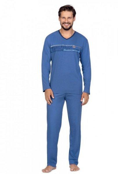 Regina 590 Pánské pyžamo plus size XXL tmavě šedá melanž