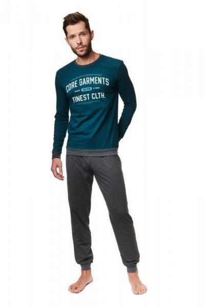 Henderson Agent 39254-79X Pánské pyžamo XXL zeleno-šedá