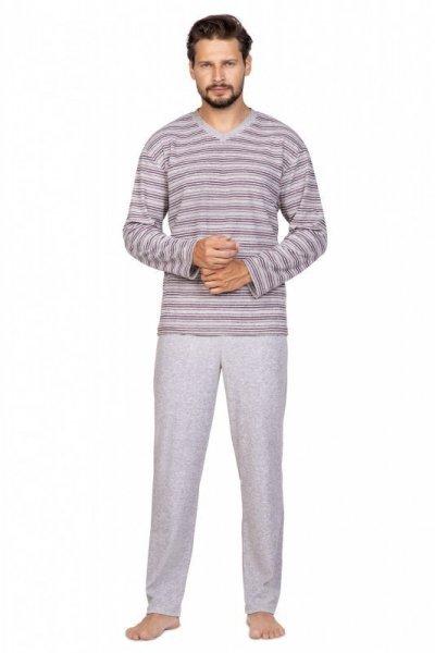 Regina 589 2XL Pánské pyžamo XXL šedá