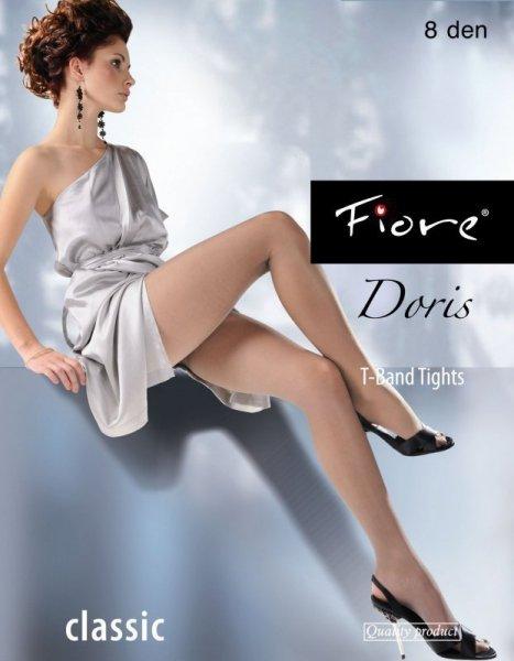 Fiore Doris Punčocháče 8 DEN 4-L černá