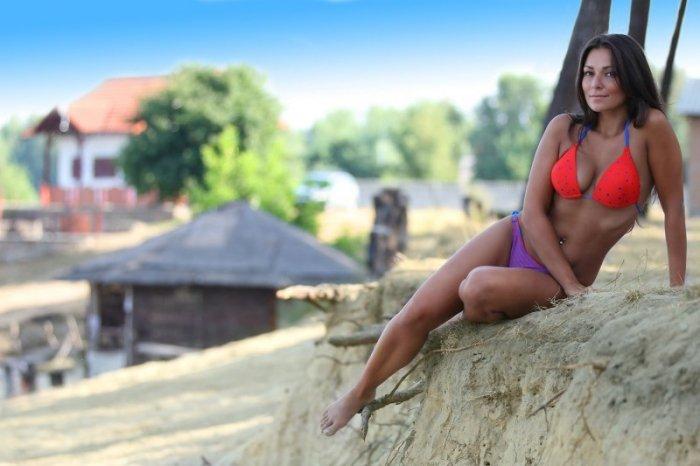 Plavky Demi Saison Primavera Bikini červené 70B/36 jako na fotografii