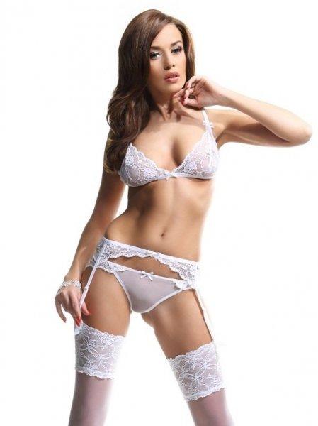 Demoniq Sarah white Erotický Komplet XL bílá