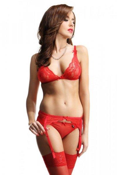 Demoniq Sarah red Erotický Komplet L červená