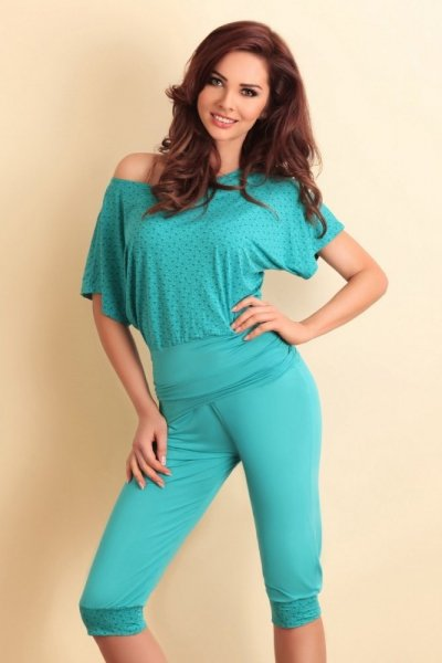 Lupoline 264 Dámské pyžamo 40 smaragdová
