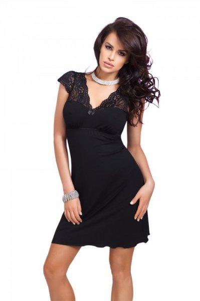 Donna Diana noční košilka black černá XXL černá