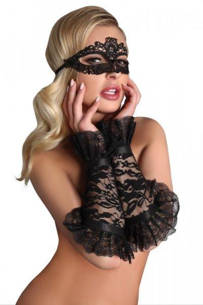 LivCo CORSETTI FASHION Erotická maska Mask model 5 Univerzální černá