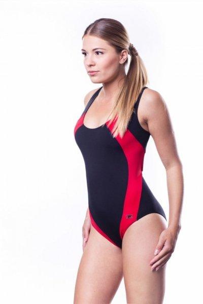 Dámské sportovní plavky Shepa 009 (B1D6) M černo-červená