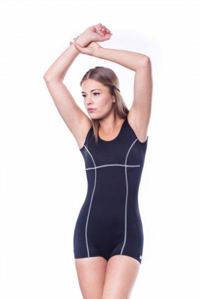 Dámské sportovní plavky Shepa 016 (B1R20) 4XL černo-ecru
