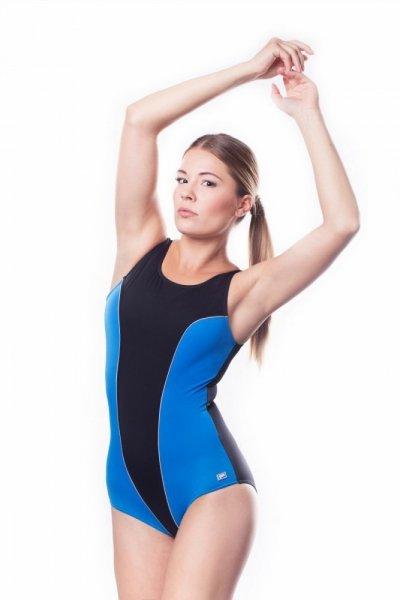 Dámské sportovní plavky Shepa 031 (B1D4) 4XL černo-modrá