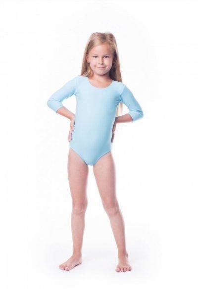 Gymnastický dres Body lycra (B8) rukáv 3/4 Shepa 134 světle modrá