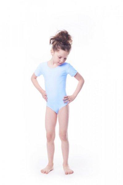 Gymnastický dres Body lycra (B8) krátký rukáv Shepa 152 světle modrá