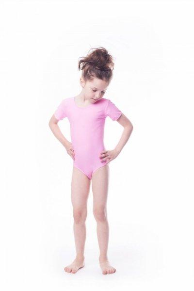 Gymnastický dres Body lycra (B9) krátký rukáv Shepa 134 růžová