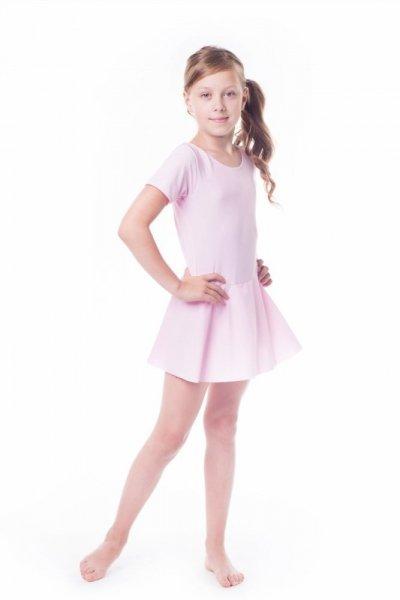 Gymnastický dres se sukní (B15) Shepa 134 světle růžová
