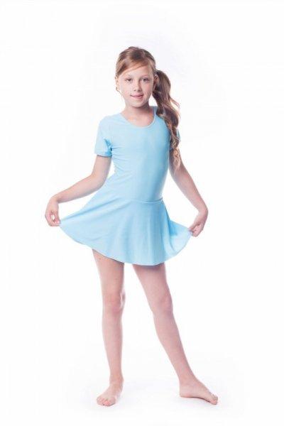 Gymnastický dres se sukní (B8) Shepa 116 světle modrá