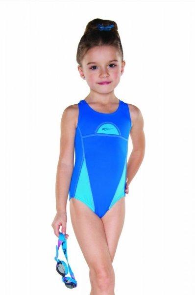 Dívčí plavky Shepa 024 (B4D8) 146 modro-blankytná