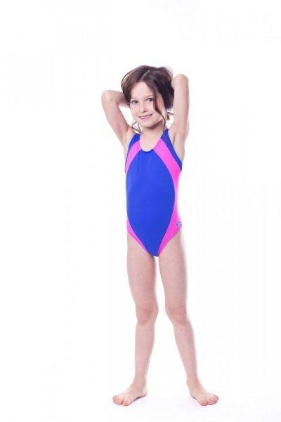 Dívčí plavky Shepa 009 (B5D9) 152 modro-růžová