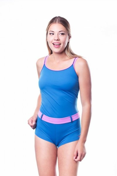 Dámské sportovní plavky Shepa 071 (B4D9) XL modro-růžová
