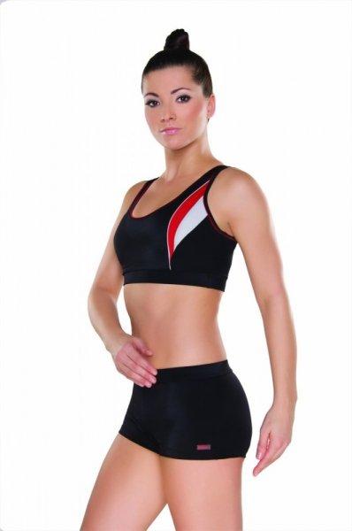 Dámské sportovní plavky Shepa 043 (B1D6) S černo-červená