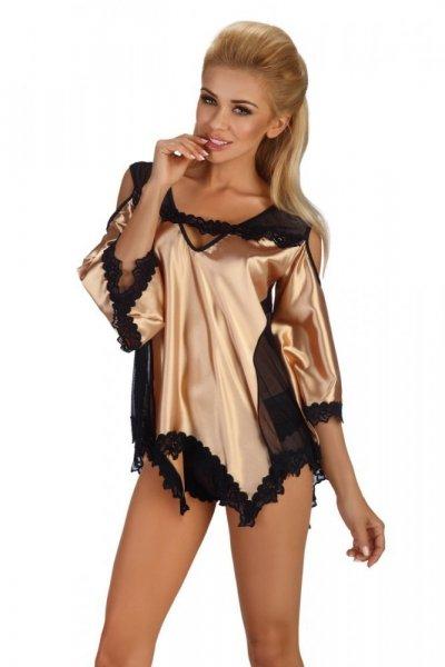 Beauty Night Fashion Malvine dámská souprava gold S/M zlatá