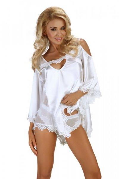 Beauty Night Fashion Malvine dámská souprava white S/M bílá