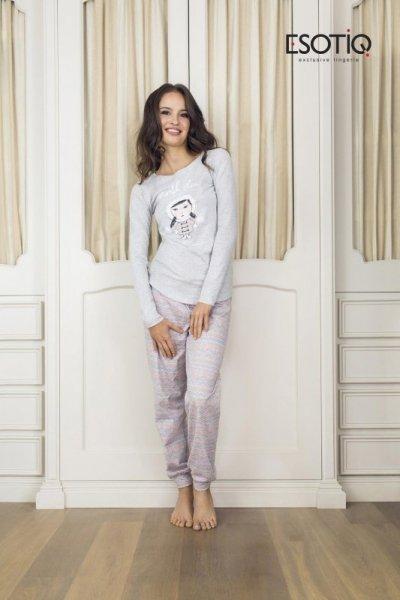 Esotiq Dolly 1 (33515-09X) (33519-09X) Světle šedé Dámské pyžamo XL světle šedá