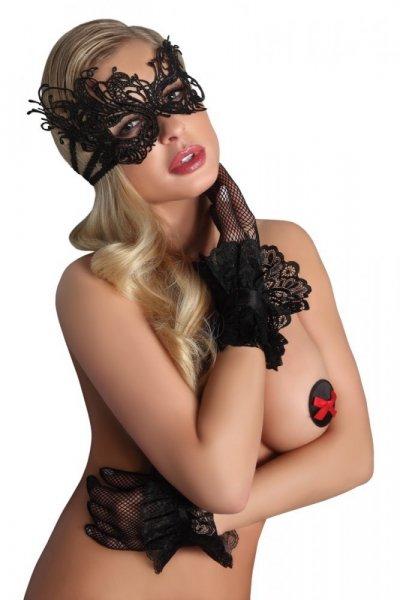 Maska na oči LivCo Corsetti Mask Black Model 1 Univerzální černá