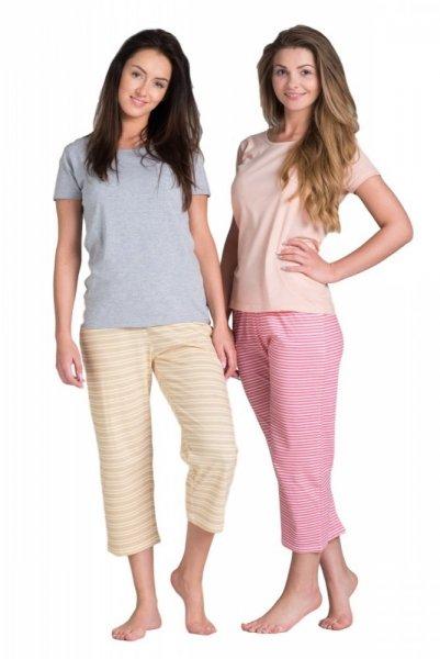 Dámské pyžamo SAL-PY-035 růžové Rossli S broskvovo-růžová