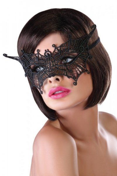 LivCo CORSETTI FASHION Erotická maska Mask model 11 Univerzální černá