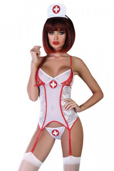 Erotický kostým Chavi L/XL bílá