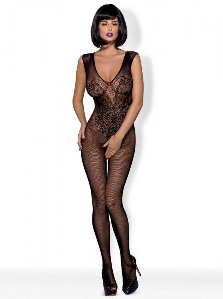 Erotické body Obsessive Bodystocking N112 XL/XXL černá