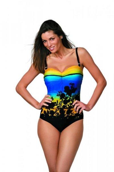 Marko Ingrid M-381 Nero-Mais 4XL černo-modro-žlutá