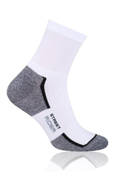 Steven 057-203 Ponožky 44-46 bílá/šedá