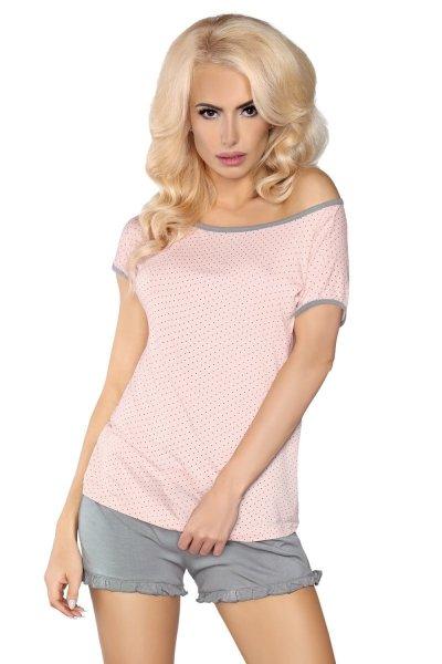LivCo Corsetti 103 dámské pyžamo L/XL růžovo-šedá