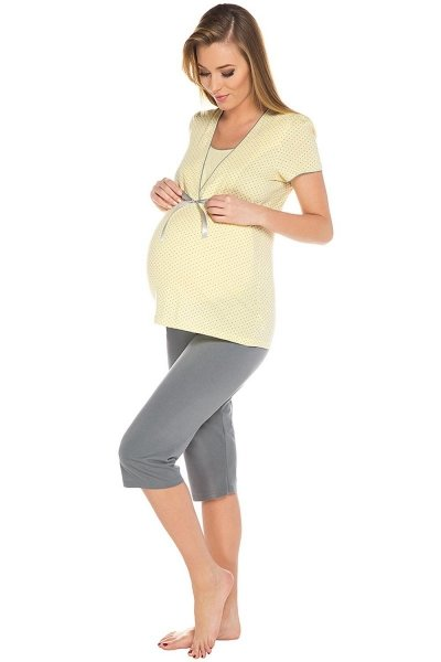Italian Fashion Felicita kr.r. k.3/4 Dámské pyžamo XL žlutá