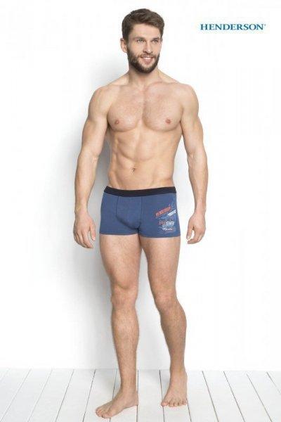 Henderson Denso 34269-55X Modré Pánské boxerky L modrá(55)
