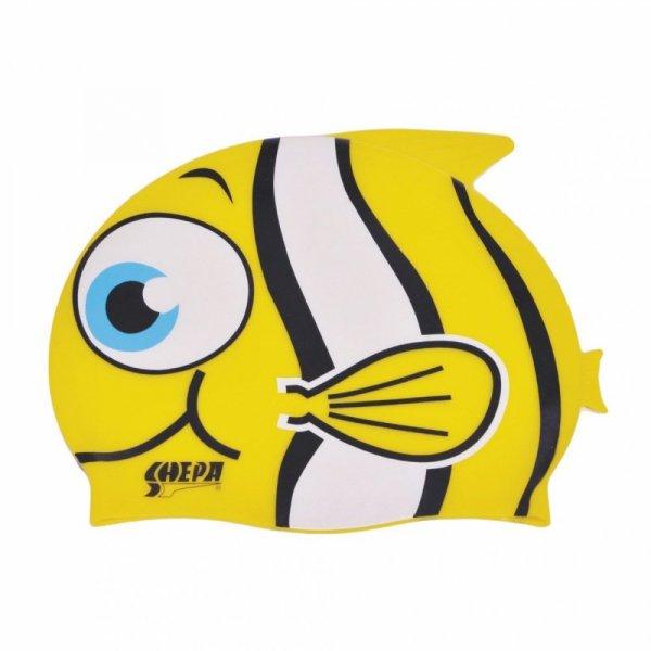 Plavecká čepice Kids Shepa Płetwa (B13) One size žlutá