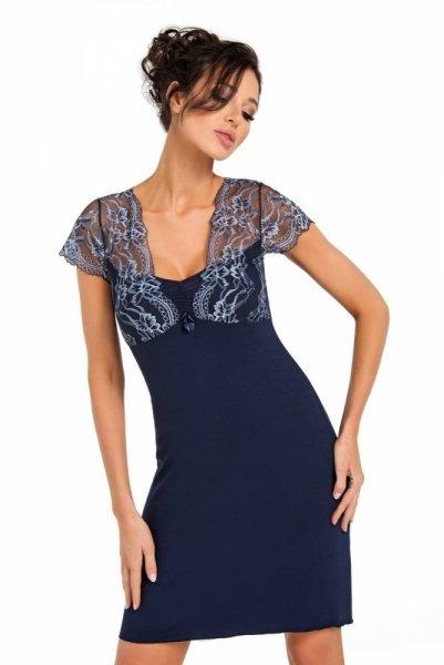 Donna Gloria tmavě modrá Noční košile S tmavě modrá