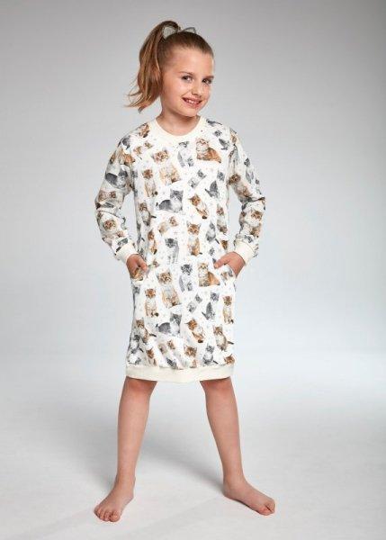 Cornette Kids Girl 942/105 Lovely Cats 4 Dívčí pyžamo 98-104 ecru